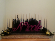 Nicole Great Gatsby theme candelabra
