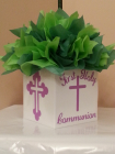 princess queen crown cross communion box