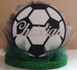 Boy soccer ball centerpiece