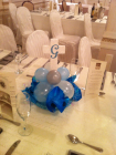 cross centerpiece with balloon base
