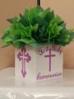 princess queen crown cross communion box