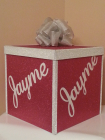 Hot pink and silver envelope box