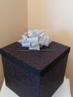 Purple and black damask envelope box