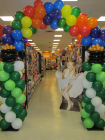 St. Patricks Balloons Store Display