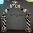 Black White Damask Arch 2