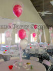2 double stuffed with 2 balloons on tulle
