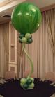 30in marbled balloon in green Bat Mitzvah