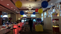 36 in hanging balloons carnival themed b'nai mitzvah