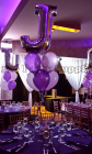jumbo letter with 6 balloons bouquet