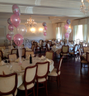 3 balloons and 1 mylar on tulle