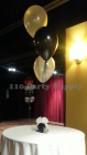 3 balloons on a custom giftbox weight
